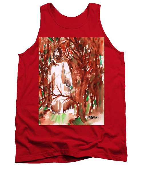 Christ In The Forest Tank Top