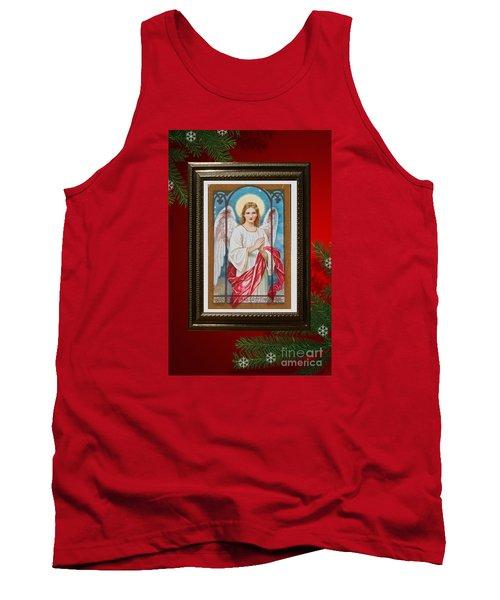 Christmas Angel Art Prints Or Cards Tank Top by Valerie Garner