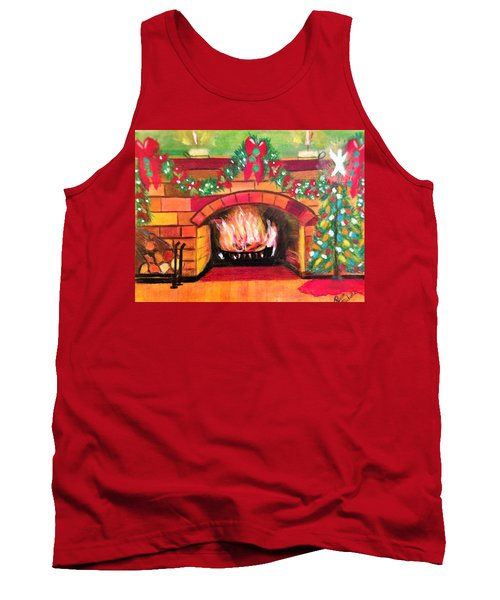 Christmas At The Cabin Tank Top