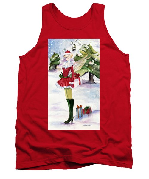 Christmas Fantasy  Tank Top by Nadine Dennis