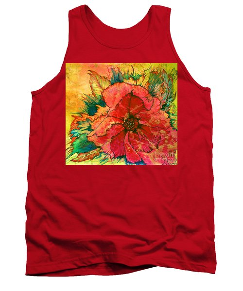 Christmas Flower Tank Top