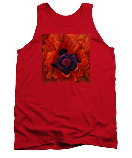 Close Up Poppy Tank Top by Billie Colson