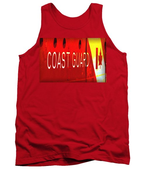 Tank Top featuring the photograph Coast Guard Du Canada by Nadalyn Larsen
