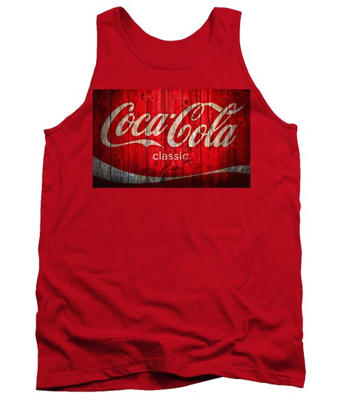 Tank Top featuring the photograph Coca Cola Barn by Dan Sproul