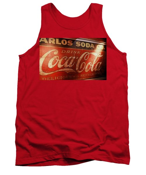 Tank Top featuring the photograph Coca Cola Sign by Rodney Lee Williams