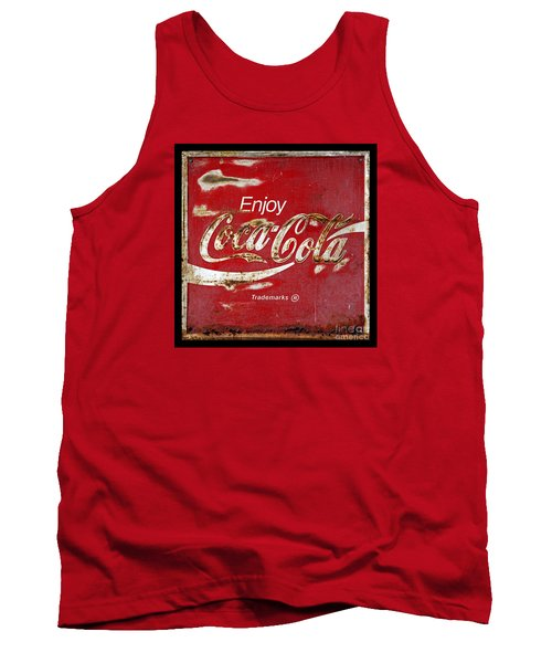 Coca Cola Vintage Rusty Sign Tank Top by John Stephens