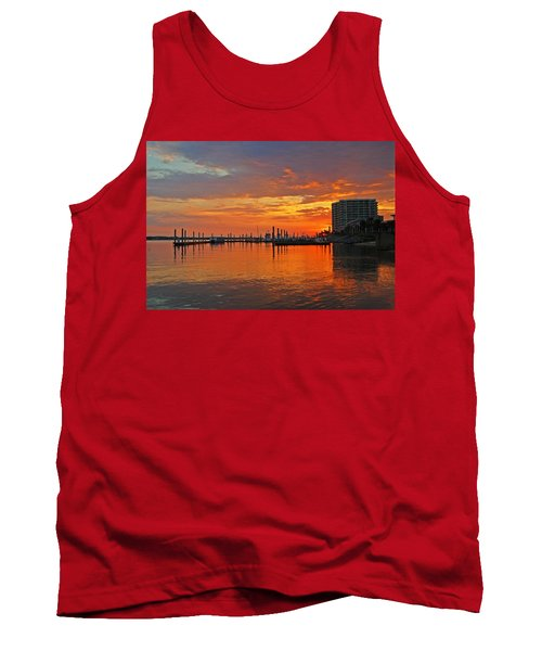 Colbalt Morning Tank Top by Michael Thomas