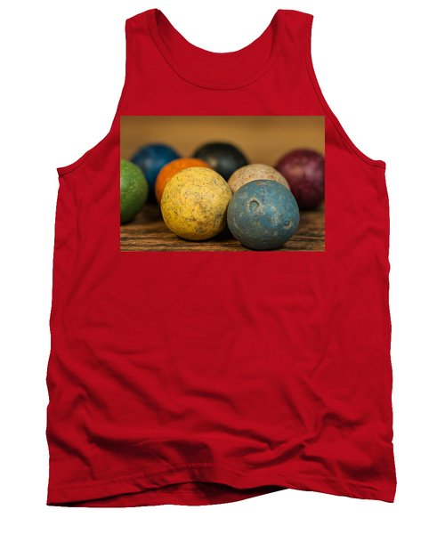 Colored Clay Marbles Tank Top