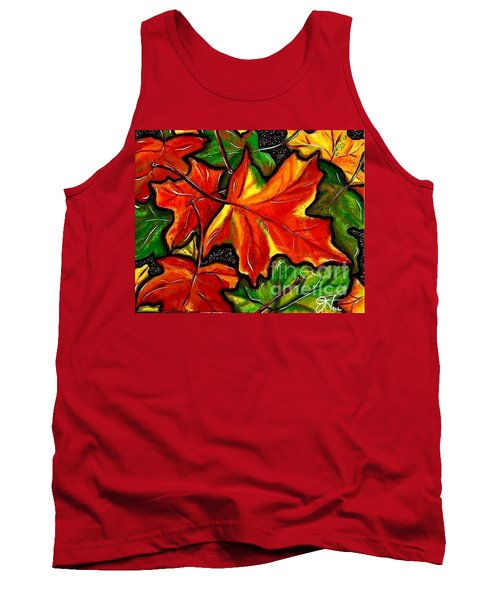 Tank Top featuring the painting Colorful Carpet by Jackie Carpenter