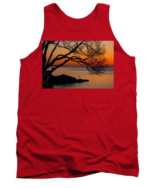 Colorful Quiet Sunrise On Lake Ontario In Toronto Tank Top