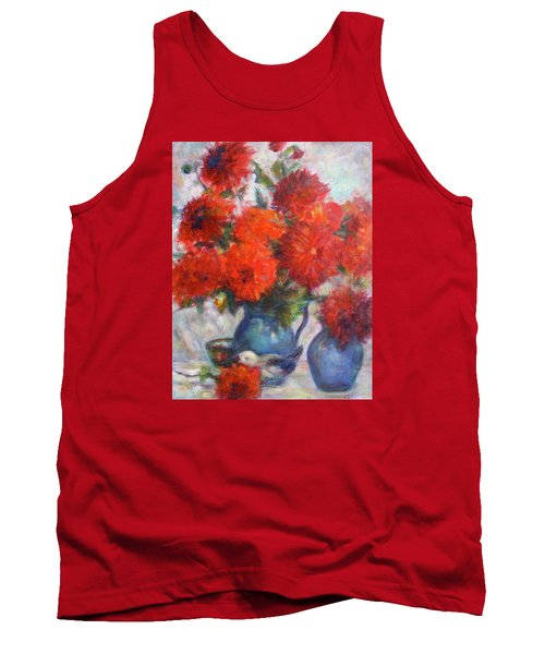 Complementary - Original Impressionist Painting - Still-life - Vibrant - Contemporary Tank Top