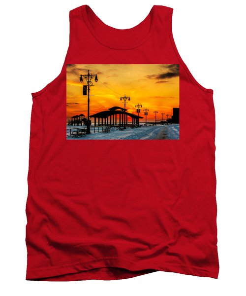 Coney Island Winter Sunset Tank Top