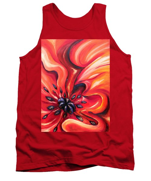 Tank Top featuring the painting Consuming Fire by Meaghan Troup