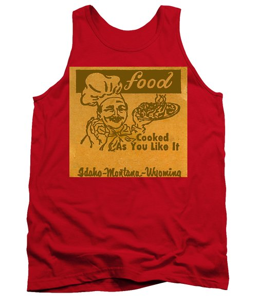 Tank Top featuring the digital art Cooked As You Like It by Cathy Anderson