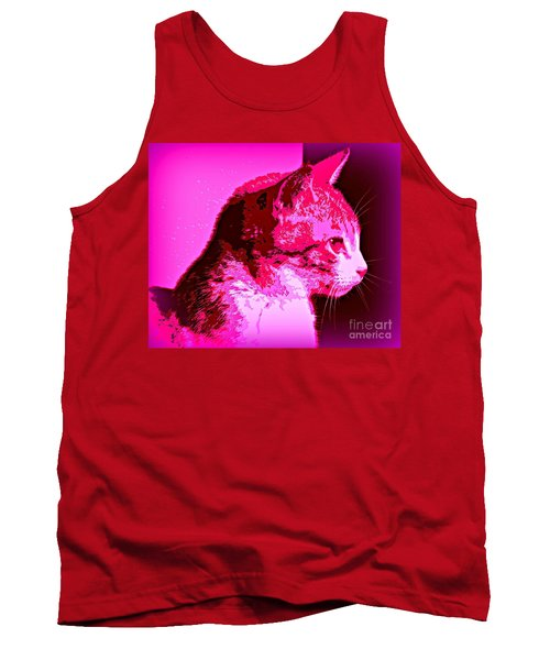 Cool Cat Tank Top by Clare Bevan