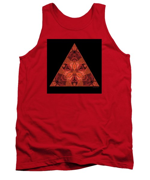 Tank Top featuring the digital art Copper Triangle Abstract by Judi Suni Hall