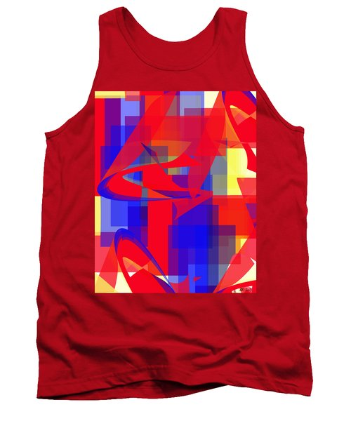 Tank Top featuring the digital art Copter Sunrise by Stephanie Grant