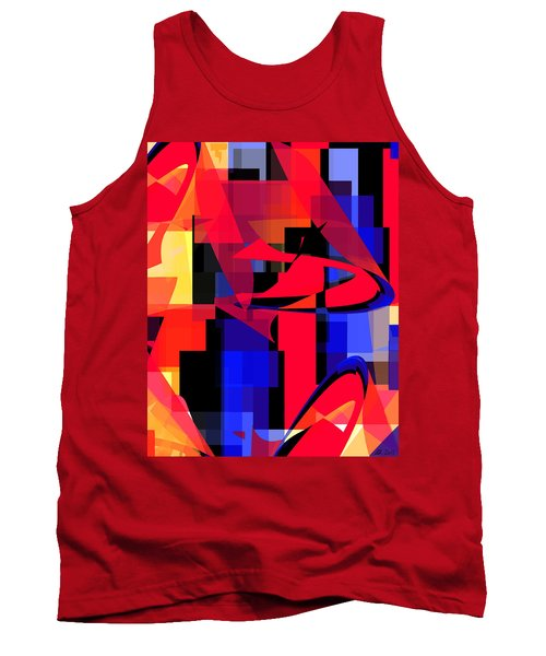 Tank Top featuring the digital art Copter Sunset by Stephanie Grant