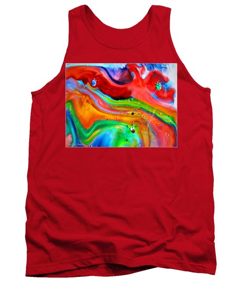 Tank Top featuring the painting Cosmic Lights by Joyce Dickens