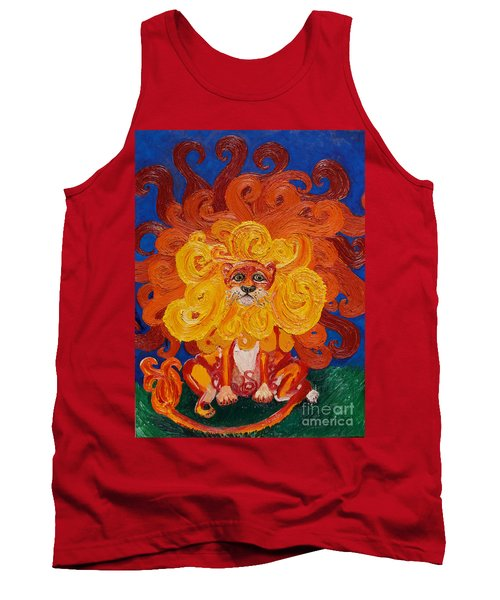 Tank Top featuring the painting Cosmic Lion by Cassandra Buckley