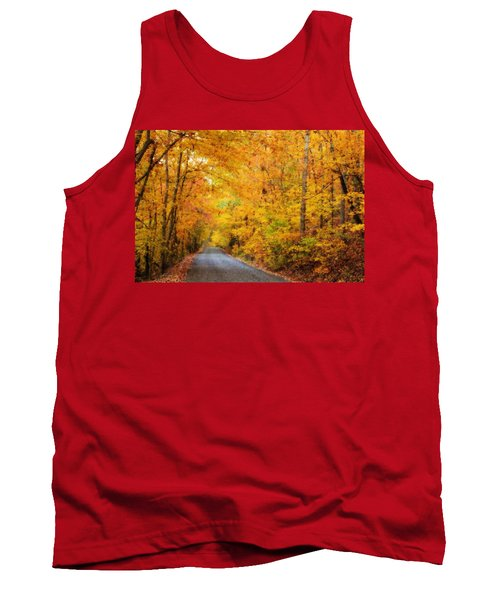Country Road In Fall Tank Top