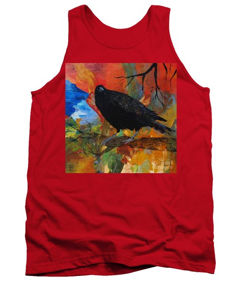 Crow On A Branch Tank Top