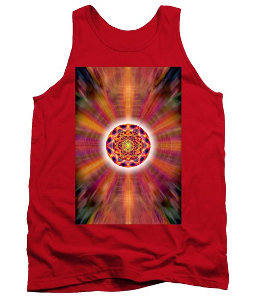 Tank Top featuring the drawing Crystal Ball Of Light by Derek Gedney