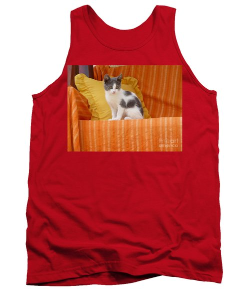Tank Top featuring the photograph Cute Kitty by Vicki Spindler