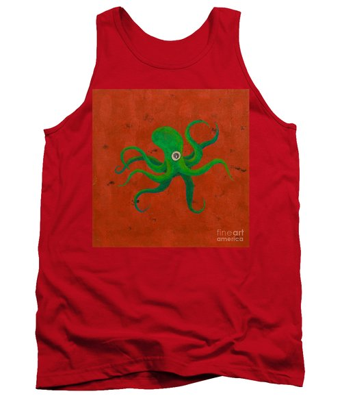 Cycloptopus Red Tank Top by Stefanie Forck
