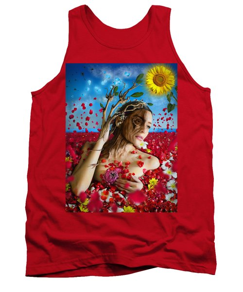 Dafne   Hit In The Physical But Hurt The Soul Tank Top by Alessandro Della Pietra