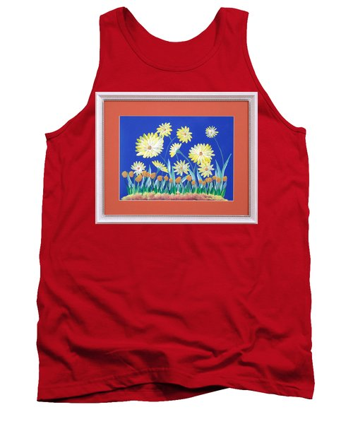 Tank Top featuring the painting Daisies by Ron Davidson