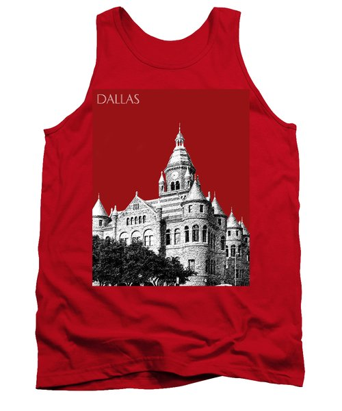 Dallas Skyline Old Red Courthouse - Dark Red Tank Top