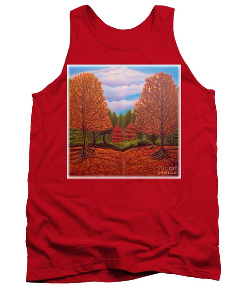 Dance Of Autumn Gold With Blue Skies Revised Tank Top by Kimberlee Baxter