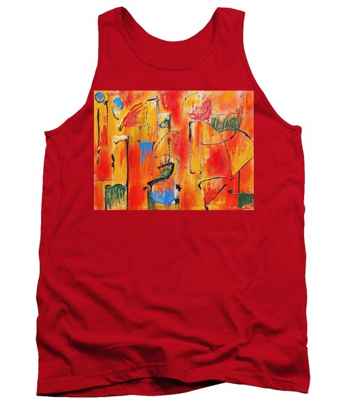 Tank Top featuring the painting Dancing In The Heat by Jason Williamson