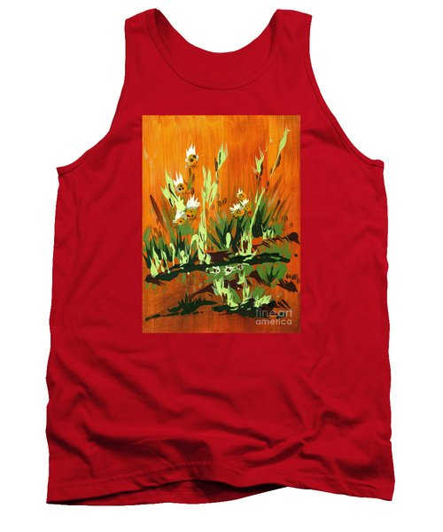 Tank Top featuring the painting Darlinettas by Holly Carmichael