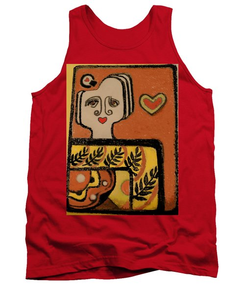 Deco Queen Of Hearts Tank Top by Carol Jacobs
