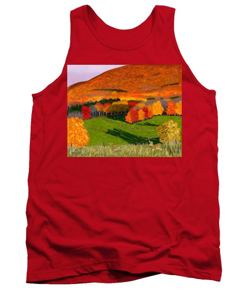 Deer's Eye View Of Bear Meadows Farm Tank Top