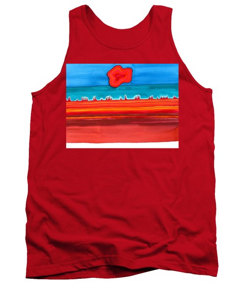 Desert Cities Original Painting Sold Tank Top