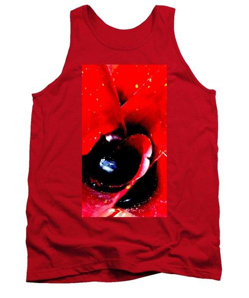 Devilish Eye Of The Bromeliad Tank Top by Antonia Citrino