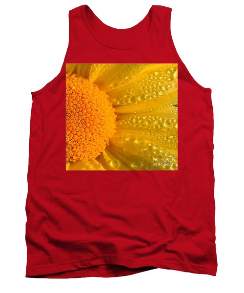 Tank Top featuring the photograph Dew Drops On Daisy by Terri Gostola