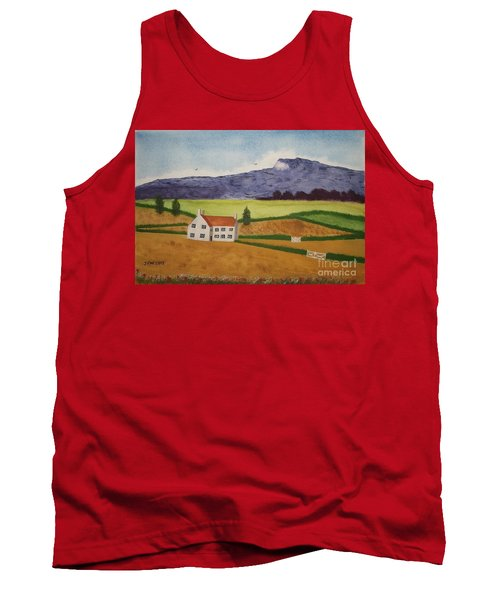 Tank Top featuring the painting Distant Hills by John Williams