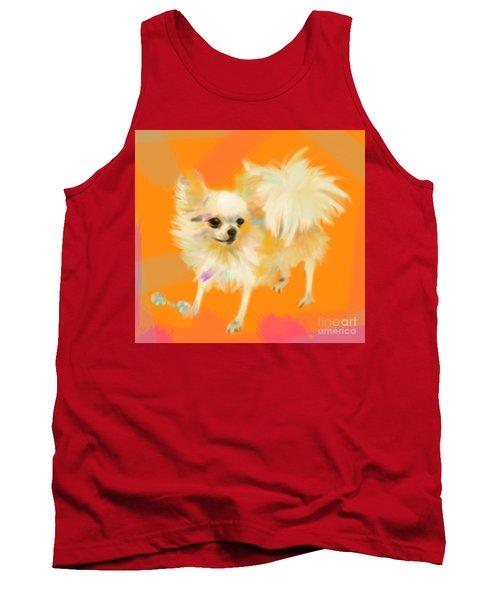 Dog Chihuahua Orange Tank Top