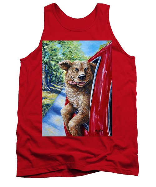 Dog...gone Happy Tank Top by Gail Butler