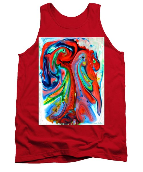 Tank Top featuring the painting Dont Worry  Be Happy by Joyce Dickens