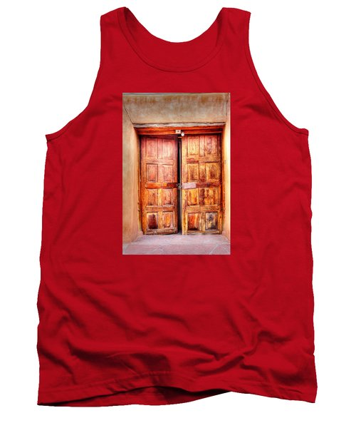 Tank Top featuring the photograph Doors To The Inner Santuario De Chimayo by Lanita Williams