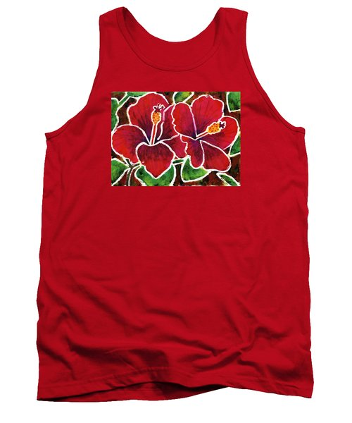 Double Hibiscus Tank Top