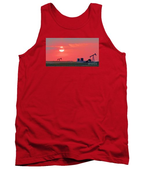 Tank Top featuring the photograph Rising Full Moon In Oklahoma by Janette Boyd