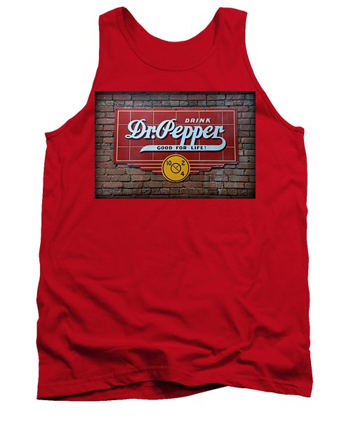Drink Dr. Pepper - Good For Life Tank Top by Stephen Stookey