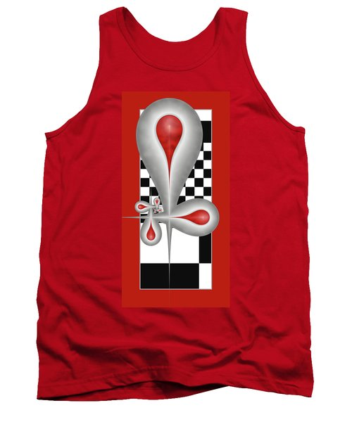 Drops On A Chess Board Tank Top by Gabiw Art