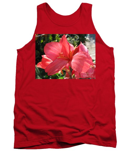Dwarf Canna Lily Named Shining Pink Tank Top by J McCombie